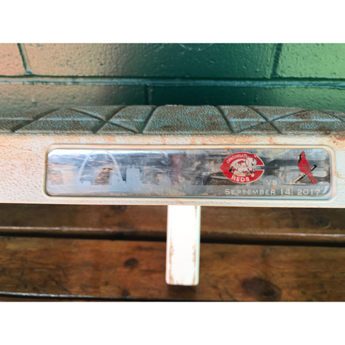 Photo of Cardinals Authentics: Game Used 2nd Base from September 14th, 2017 *Pham Becomes member of 20-20 Club*
