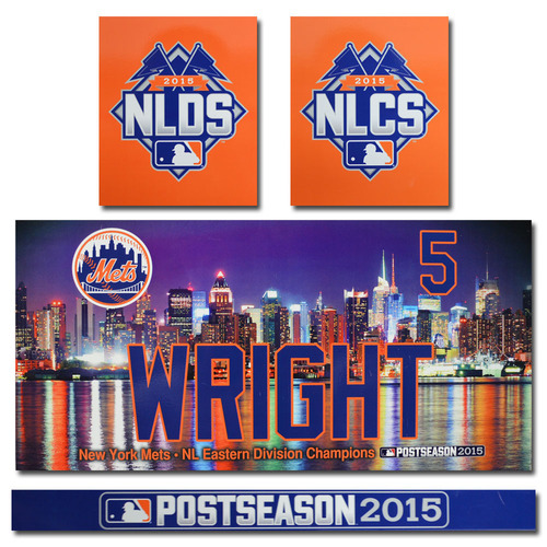 Photo of David Wright #5 - Game Used Locker Nameplate Set - 2015 Postseason