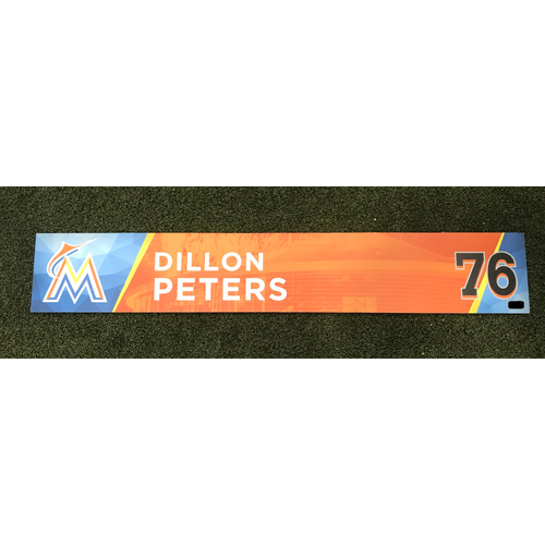 Photo of Game-Used Locker Tag: Dillon Peters