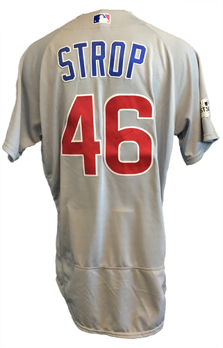 Pedro Strop Game-Used Jersey -- NLDS Game 2 -- Cubs at Nationals -- 10/7/17