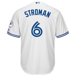 Men's 40th Season Cool Base Replica Marcus Stroman Home Jersey by Majestic