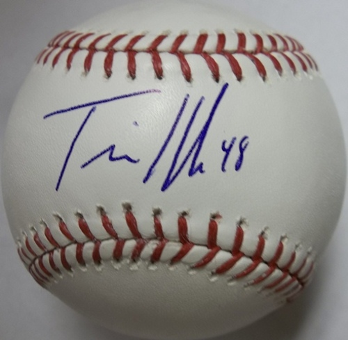 Photo of Travis Hafner Autographed Baseball