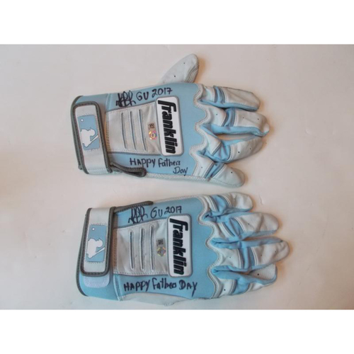 Photo of Autographed Dixon Machado Batting Gloves
