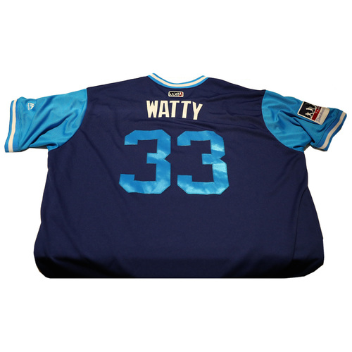 "Photo of Tony ""Watty"" Watson Los Angeles Dodgers Game-Used Players Weekend Jersey"