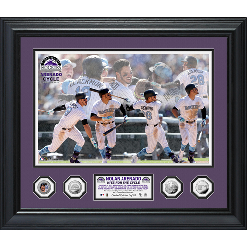 """Photo of Serial #1! Nolan Arenado """"Hits for the Cycle"""" Special Edition Photo Mint"""