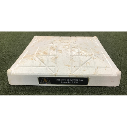 Photo of Game-Used Base: Nationals at Marlins 9/6/17 (Roberto Clemente Day)