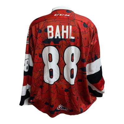 #88 Kevin Bahl Game Issued Teddy Bear Toss Jersey