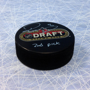 Drew Doughty 2008 NHL Draft Day Puck Autographed w/ 2nd Pick Inscription *Los Angeles Kings*