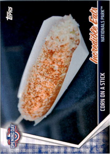 Photo of 2017 Topps Opening Day Incredible Eats #IE12 Corn on a Stick