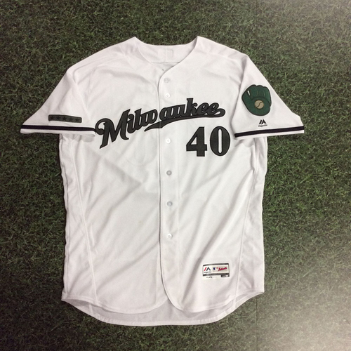 Photo of Jason Lane 2017 Memorial Day Tribute Game-Used Jersey