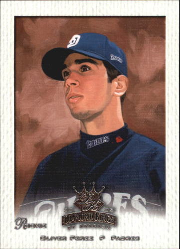 Photo of 2002 Diamond Kings #153 Oliver Perez Rookie Card -- Nationals post-season