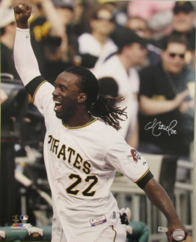 Photo of Andrew McCutchen Autographed Celebrating 16x20