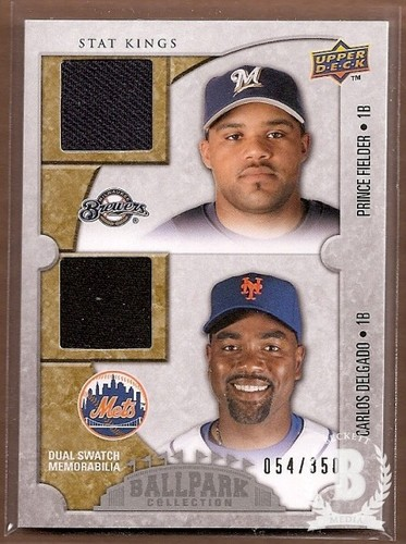 Photo of 2009 Upper Deck Ballpark Collection #179 Carlos Delgado/Prince Fielder/350