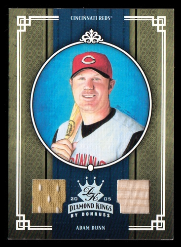 Photo of 2005 Diamond Kings Materials Silver #337 Adam Dunn Bat-Jsy/100