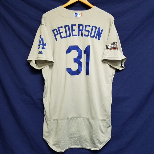 Photo of Joc Pederson 2016 Game-Used Road Playoff Jersey vs Chicago Cubs - NLCS Game 6
