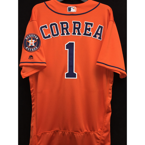 Photo of Team-Issued 2016 Carlos Correa Orange Alternate Jersey