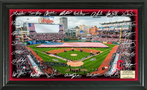 Photo of Serial #1! Cleveland Indians 2017 Signature Field