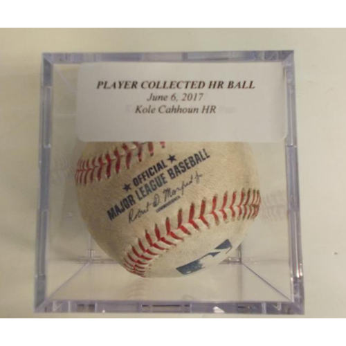 Photo of Player Collected Kole Calhoun Home Run Ball