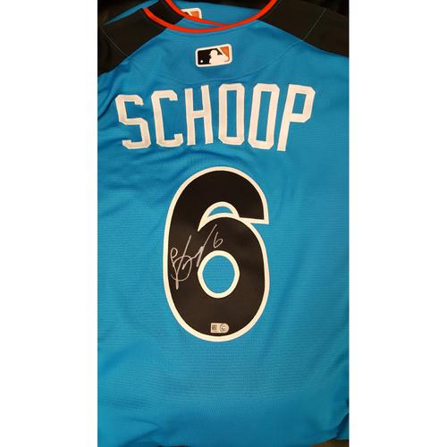 Photo of Jonathon Schoop 2017 Major League Baseball Workout Day/Home Run Derby Autographed Jersey