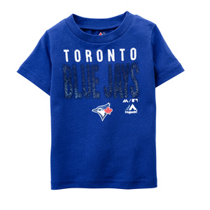 Toddler Faux Stitch T-Shirt Royal by Majestic