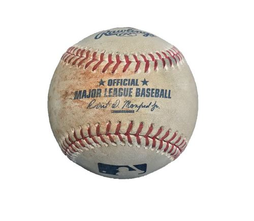 Photo of Game-Used Baseball from Pirates vs. Yankees on 4/22/17 - Taillon to Ellsbury, Single