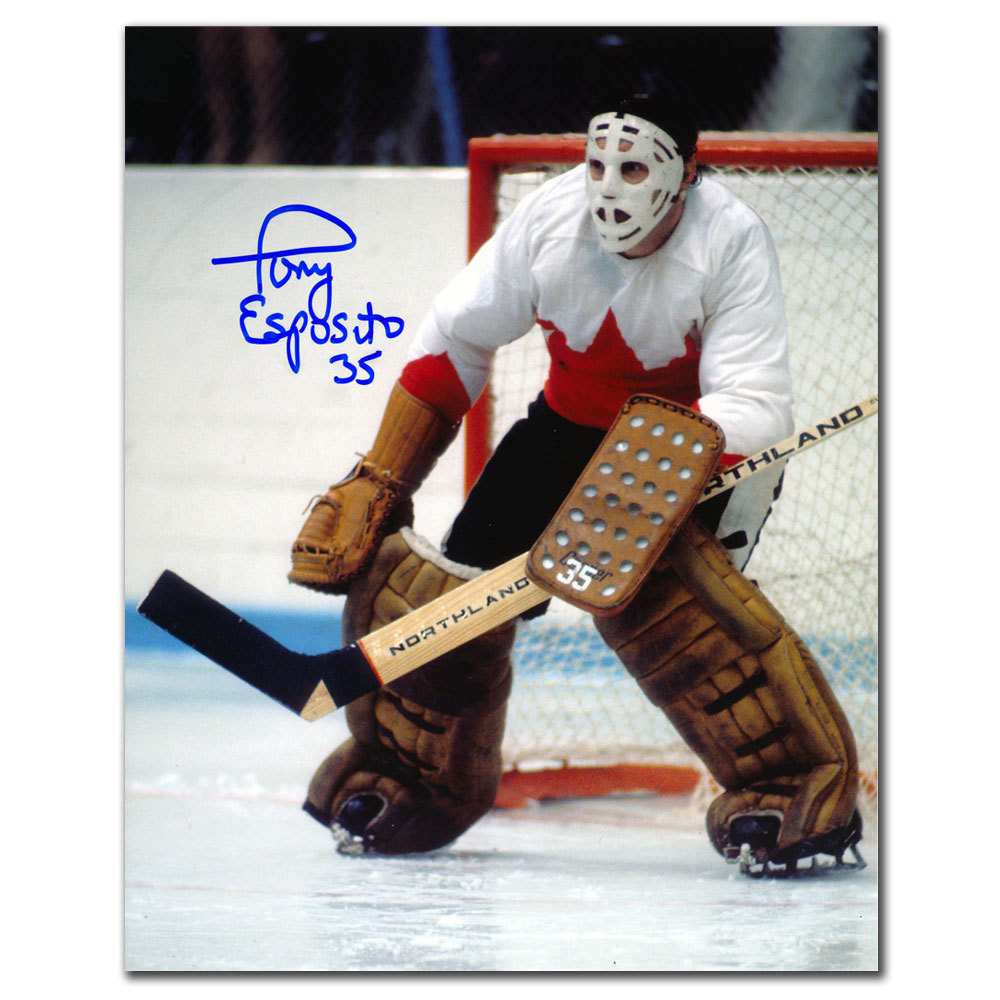 Tony Esposito Team Canada Summit Series 1972 Autographed 8x10