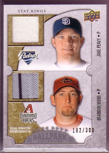 Photo of 2009 Upper Deck Ballpark Collection #182 Brandon Webb/Jake Peavy/300