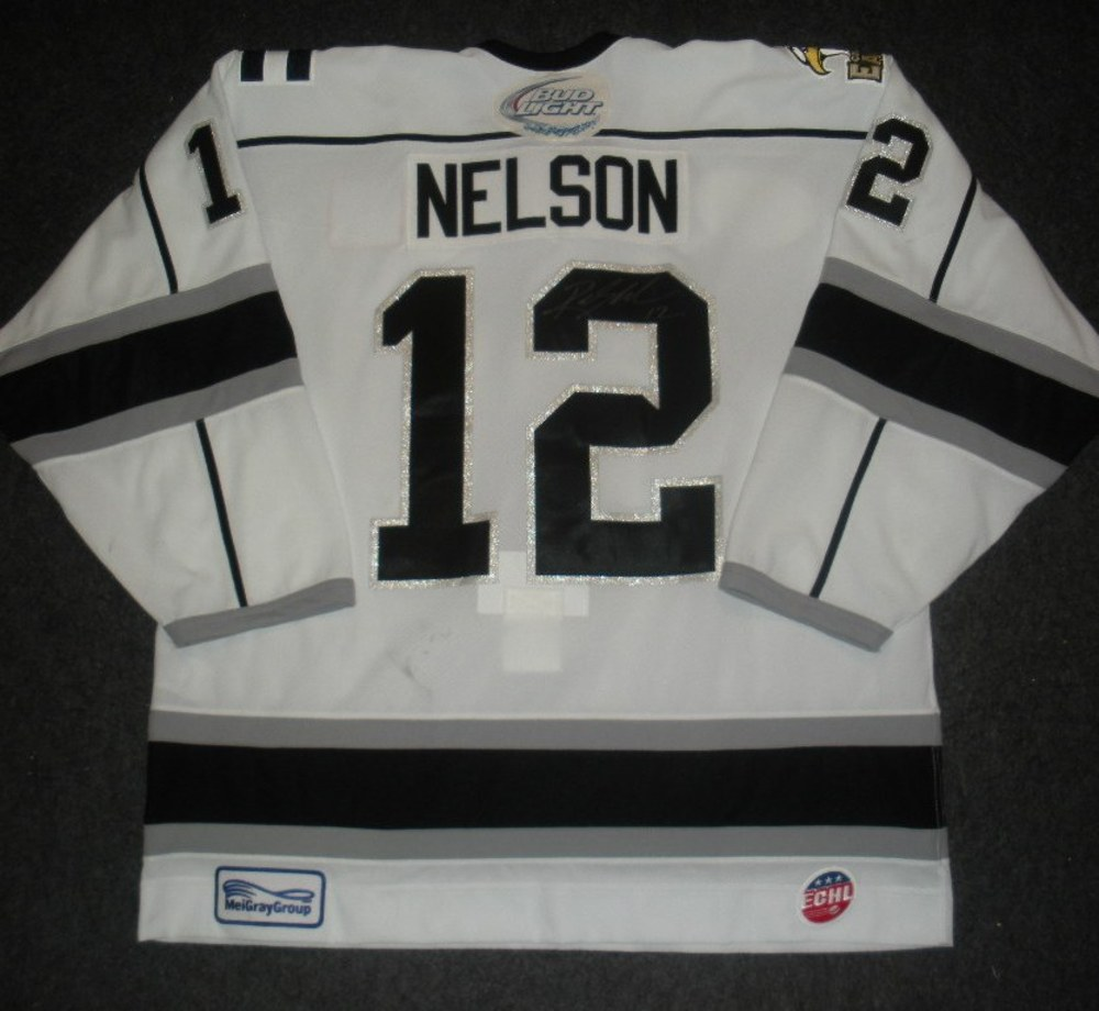 Riley Nelson - Silver Skater - Colorado Eagles - Autographed Game-Worn Jersey - Worn 1/11/14