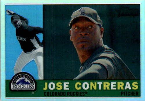 Photo of 2009 Topps Heritage Chrome Refractors #CHR137 Jose Contreras