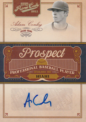 Photo of 2011 Prime Cuts Prospect Signatures Gold #AC Adam Conley/49