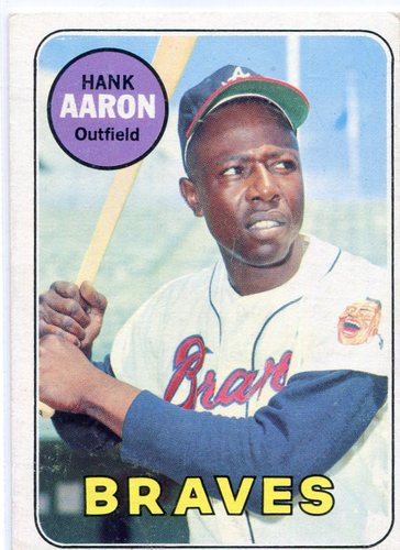 Photo of 1969 Topps #100 Hank Aaron -- Braves Hall of Famer