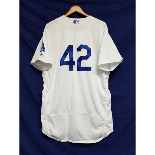 "Photo of Luis Avilan Game-Used ""42"" Jersey"