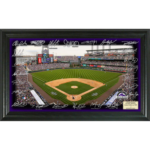 Photo of Serial #1! Colorado Rockies 2017 Signature Field