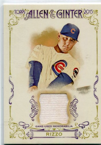 Photo of 2015 Topps Allen and Ginter Relics Anthony Rizzo Cubs post-season