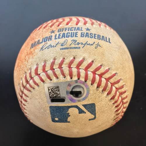 Photo of Game-Used Baseball: Dallas Keuchel Strikes Out Salvador Perez