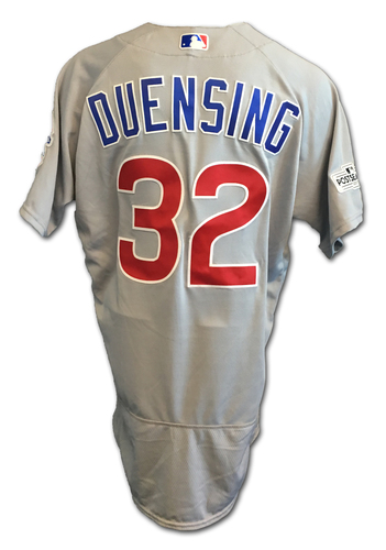 Brian Duensing Game-Used Jersey -- NLDS Game 2 -- Cubs at Nationals -- 10/7/17