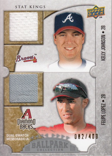 Photo of 2009 Upper Deck Ballpark Collection #185 Kelly Johnson/Felipe Lopez/400