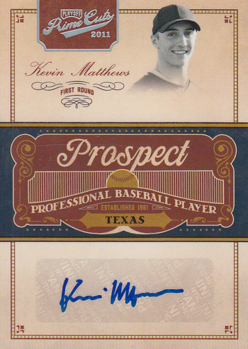 Photo of 2011 Prime Cuts Prospect Signatures Silver #KM Kevin Matthews/99
