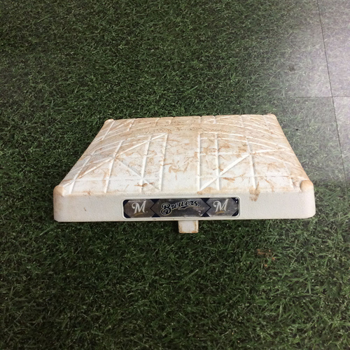Photo of Game-Used 06/03/17 3rd Base - LAD@MIL - Travis Shaw & Chris Taylor Grand Slams - 1st Time in MLB History Seven Grand Slams Hit in a Single Day