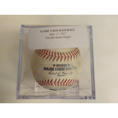 Photo of Game-Used Baseball: Tim Beckham Single