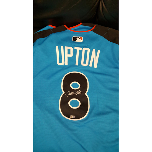 Photo of Justin Upton 2017 Major League Baseball Workout Day/Home Run Derby Autographed Jersey