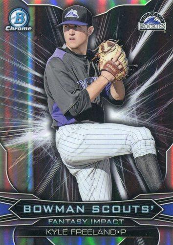 Photo of 2015 Bowman Chrome Draft Scouts Fantasy Impacts Kyle Freeland -- Rockies post-season