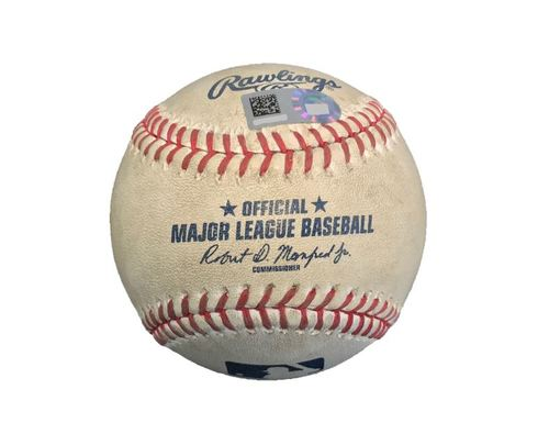 Photo of Game-Used Baseball from Pirates vs. Cubs on 4/25/17 - Cole to Heyward, Foul