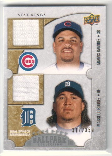 Photo of 2009 Upper Deck Ballpark Collection #196 Magglio Ordonez/Aramis Ramirez/350