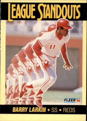 Photo of 1990 Fleer League Standouts #1 Barry Larkin