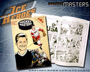 GORDIE HOWE, WAYNE GRETZKY, & MARIO LEMIEUX Hockey Masters Comic Book