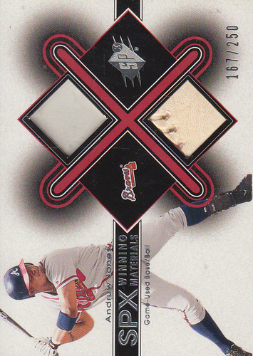 Photo of 2001 SPx Winning Materials Ball-Base #BAJ Andruw Jones