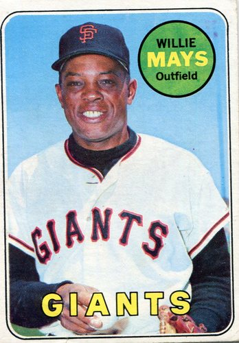 Photo of 1969 Topps #190 Willie Mays -- Giants Hall of Famer
