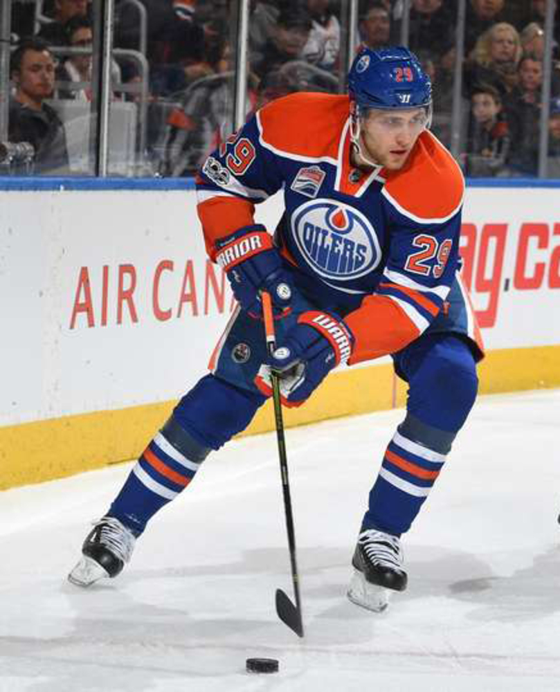 Leon Draisaitl #29 - Autographed 2016-17 Edmonton Oilers Game Used Warrior Alpha Stick