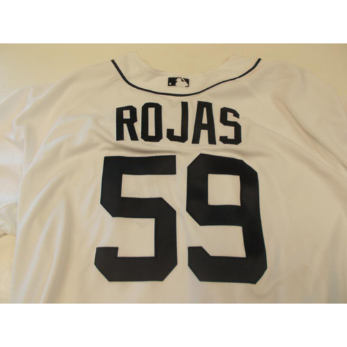 Photo of Game-Used Mike Rojas Home Jersey
